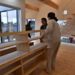 諫早市の新築工事中の平屋、A様邸にオーダー家具が入りました!